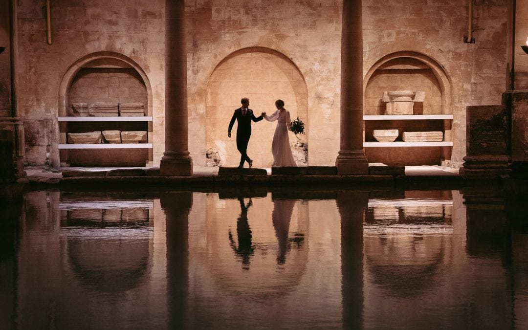 Roman Baths Wedding Shoot
